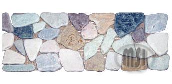 Marble Rock Pebble Border