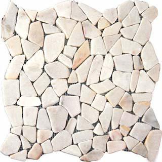 White Flat Pebbles